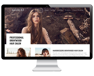 Web Design Example Salon63