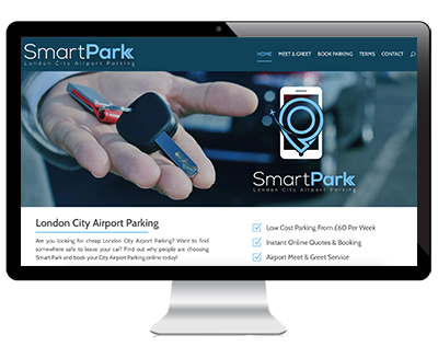 Web Design Example Smart Park
