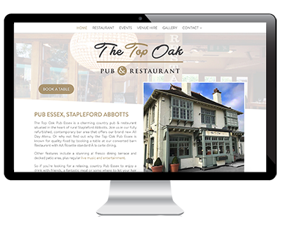 Web Design Example Top Oak